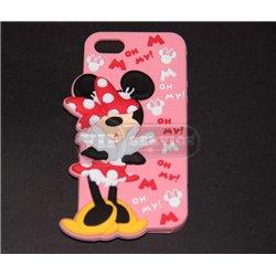 iPhone 5С чехол-накладка Mickey Mouse Oh my, силиконовый, розовый