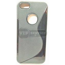 iPhone 5C чехол-накладка, силиконовый волна, черный