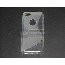 iPhone 5C чехол-накладка, силиконовый волна, прозрачный