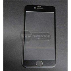 iPhone 6/6S противоударное стекло Momax с алюминиевой рамкой полное, черное