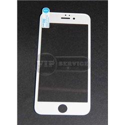 iPhone 6/6S противоударное стекло Momax с силиконовой рамкой полное, белое