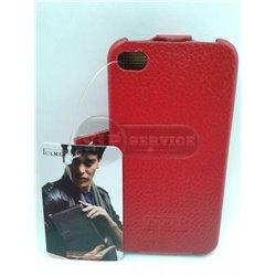 iPhone 4/4S чехол-блокнот iCarer кожаный, красный