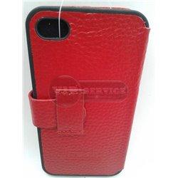 iPhone 4/4S чехол-книжка iCarer кожаный,красный
