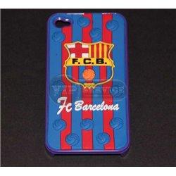 """iPhone 4/4S чехол-накладка """"F.C.B. Barcelona"""" пластиковый, синий фон"""