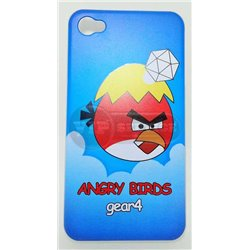 iPhone 4/4S чехол-накладка «Angry Birds» gear4 пластиковый, голубой фон