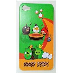 iPhone 4/4S чехол-накладка «Angry Birds» пластиковый