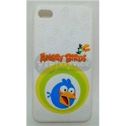 iPhone 4/4S чехол-накладка «Angry Birds» пластиковый, белый фон