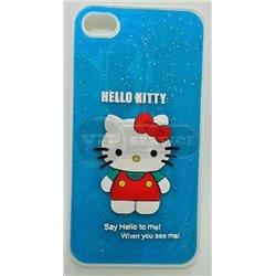 iPhone 4/4S чехол-накладка «Hello Kitty» пластиковый, голубой фон