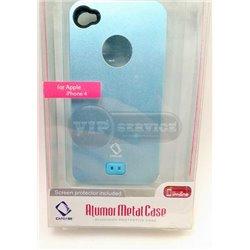 iPhone 4/4S чехол-накладка пластик+силикон, бирюзовый