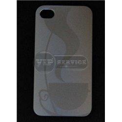 iPhone 4/4S чехол-накладка, пластиковый, серебристый