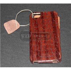 iPhone 5/5S чехол-блокнот Hoco, кожаный, коричневый под кожу аллигатора