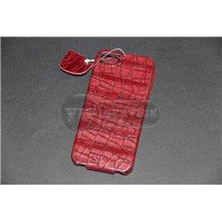 iPhone 5/5S чехол-блокнот Hoco, кожаный, красный под кожу аллигатора