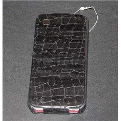 iPhone 5/5S чехол-блокнот Hoco, черный, коричневый под кожу аллигатора
