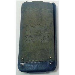 iPhone 5/5S чехол-блокнот Zenus кожаный, черный