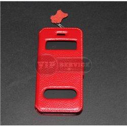 iPhone 5/5S чехол-книжка fone crocodile, кожаный, пластиковая основа, красный