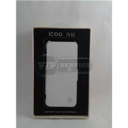 iPhone 5/5S чехол-книжка iCOO экокожа, белый