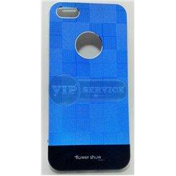 iPhone 5/5S чехол-накладка, «Apollo Flower show» пластиковый, синий