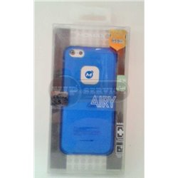 iPhone 5/5S чехол-накладка, «iCase Airy» пластиковый, голубой