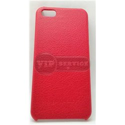 iPhone 5/5S чехол-накладка, «iCoo» экокожа малиновый