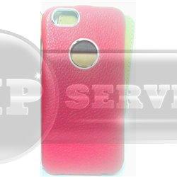 IPhone 6/6S чехол-блокнот iCarer кожаный на магнитной застежке и окошком под логотип Apple, красный