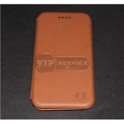 iPhone 6/6S чехол-книжка Luxury Fashion, кожаный, коричневый