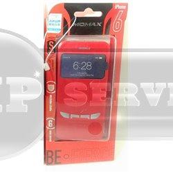 iPhone 6/6S чехол-книжка Momax Be Fierce Sportscarcase сенсорный с окошком, красный