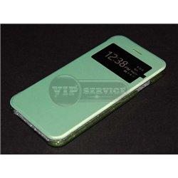 iPhone 6/6S чехол-книжка, экокожа, зелено-голубой