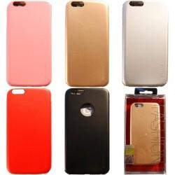 iPhone 6/6S чехол-накладка «G-Case Fashion», под кожу с окошком для логотипа Apple, черный