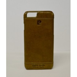 iPhone 6/6S чехол-накладка «Pierre Cardin» PCL-P03 кожаный, бежевый