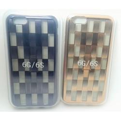 iPhone 6/6S чехол-накладка силиконовый, золотой, коричневый