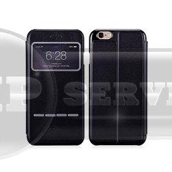 iPhone 6 Plus Momax Flip View чехол-книжка с окошком FVAPIP6LL, экокожа, черный