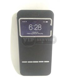 iPhone 6 Plus/6S Plus чехол-книжка Momax, экокожа+силикон, черный