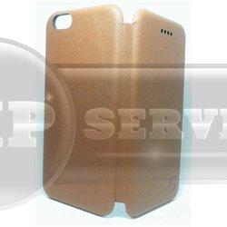 iPhone 6 Plus/6S Plus чехол-книжка Luxury fashion экокожа, коричневый