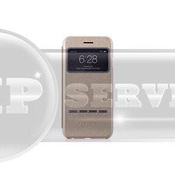 iPhone 6 Plus/6S Plus Momax Flip View чехол-книжка с окошком FVAPIP6LL, экокожа, золотой
