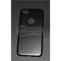iPhone 7 чехол-накладка, под кожу, силиконовый 7-Case Fresh, черный/серый/золотой/розовый