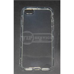iPhone 7 чехол-накладка силиконовый, прозрачный с насечками жесткости