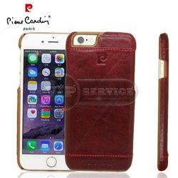 iPhone 6 Plus/6S Plus чехол-накладка Pierre Cardin Genuine Leather PCL-P03 кожаный, бордовый