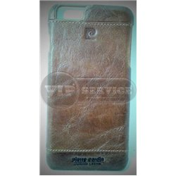 iPhone 6 Plus/6S Plus чехол-накладка Pierre Cardin PCL-P03 кожаный, коричневый
