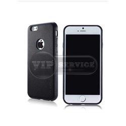 iPhone 6 Plus/6S Plus G-case чехол-накладка с окошком для логотипа экокожа, черный