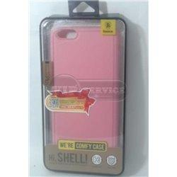 iPhone 6 Plus/6S Plus чехол-накладка Baseus comfy case, экокожа, силиконовый, розовый