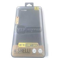 iPhone 6 Plus/6S Plus чехол-накладка Baseus comfy case, экокожа, силиконовый, черный