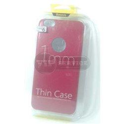 iPhone 6 Plus/6S Plus чехол-накладка Baseus, ультратонкий с окошком для логотипа Apple, экокожа, силиконовый, красный