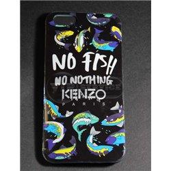 iPhone 6 Plus/6S Plus чехол-накладка Kenzo No fish, no nothing, силиконовый, темный фон