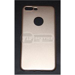 iPhone 7 Plus чехол-накладка, под кожу, силиконовый 7-Case Fresh, черный/серый/золотой/розовый