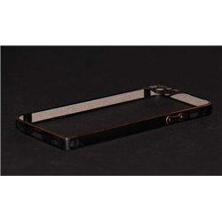 iPhone 5/5S бампер на торцы металлический, черный с рамкой на камеру