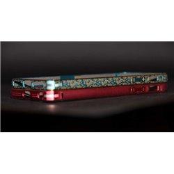 iPhone 5/5S бампер на торцы металлический, красный