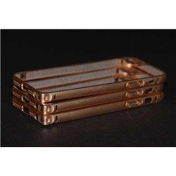 iPhone 5/5S бампер на торцы металлический, золотой