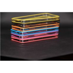 iPhone 5/5S бампер на торцы Griffin, силиконовый, фиолетовый
