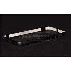 iPhone 5/5S бампер на торцы металлический, черный