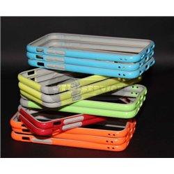 iPhone 6/6S бампер на торцы силиконовый, салатовый